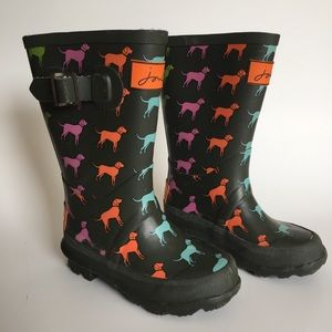 Joules girls wellies rain boots with dogs